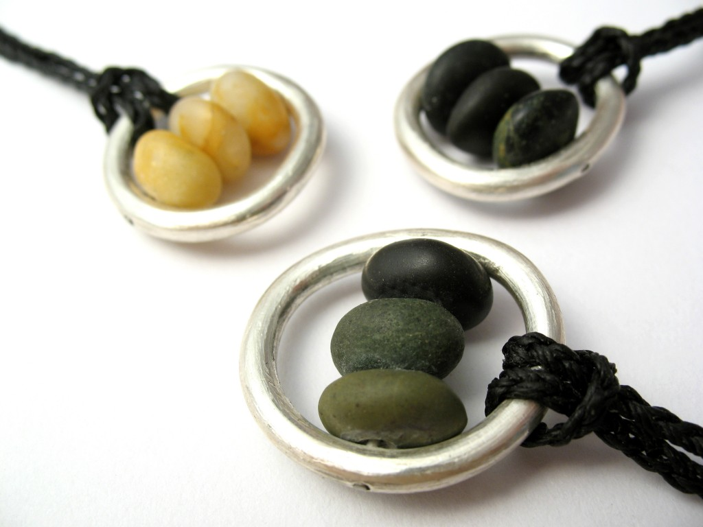 Pebbles in a Pebble Mini Pendants