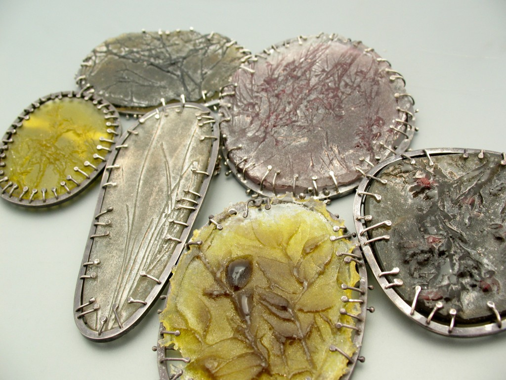 Glass Brooch Selection